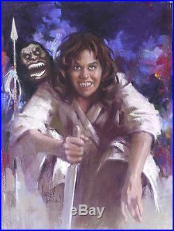 HARLEY BROWN original Published Art, KAREN BLACK, Filmfax cover 89, 2002, Terror