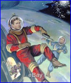 HARLEY BROWN original Published Art, TOM CORBETT SPACE CADET, Filmfax cover #102