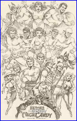 HEROES ILLUSTRATED Cover NICK CARDY Original Artwork Batman Superman T Titans