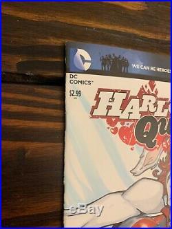 Harley Quinn #0 Original Art Sketch Cover Variant Blank Comic Book DC Batman