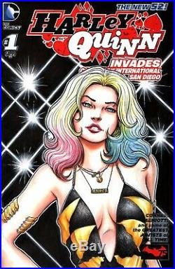 Harley Quinn New 52 Double Sided Sketch Cover Art by James Rodriguez