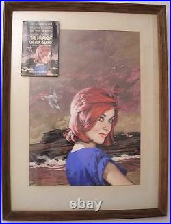 Harry Bennet Original Cover Art Murders Fox Island Pulp Dell Magazine RARE 50's