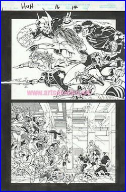 Heroes 4 Hire 16 pg 17 original art page by PASQUAL FERRY Marvel Comics