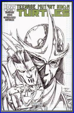 IDW Sketch Cover TEENAGE MUTANT NINJA TURTLES w RAPHAEL Original Art DAMON BOWIE