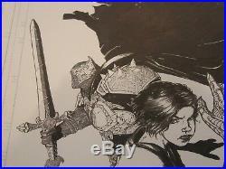 Image Medieval Spawn Witchblade Paperback Original Art Cover Brian Haberlin