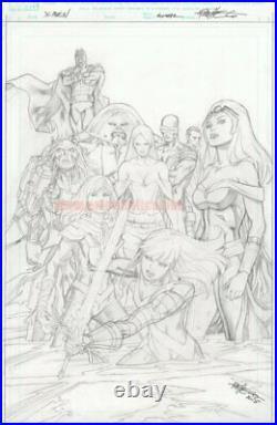Inmortal Hulk 8 original Marvel Comics COVER ART by CARLOS PACHECO X-MEN