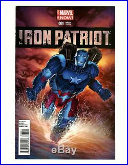 Iron Patriot #1 Variant Cover By Mike Perkins Original Comic Art 10 X 14