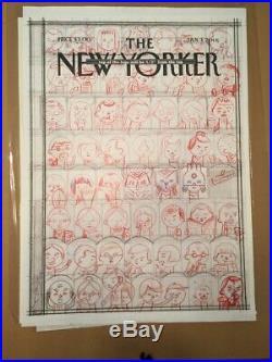 Ivan Brunetti original art for New Yorker cover