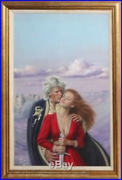 J. MATHER-American Illustrator-Original Signed Pastel-Romance Novel Cover