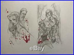 J Scott Campbell True Blood Cover Prelim Original Comic Book Art
