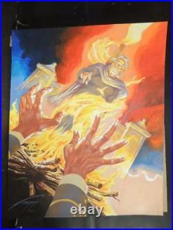 Jesus Malverde # 5 Original Mexican Cover Art Hand Signed By Gallur