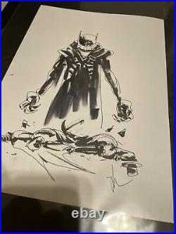 Jock Batman Who Laughs Original Art Prelim Cover Art Sketch Scott Snyder