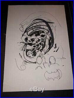 Jock Original Art Cover Splash Page Concepts For Batman Who Laughs Prelim