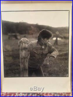 John Cougar Mellencamp Scarecrow ORIGINAL SILVER GELATIN FIBER COVER ART PHOTO