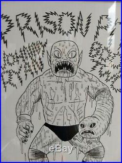 Johnny Ryan Prison Pit Cover Original Art! Framed And Deadly