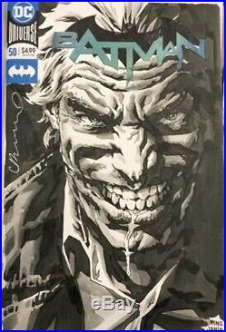Joker Original Art Sketch by Lee Bermejo on Batman #50 Sketch Cover NM