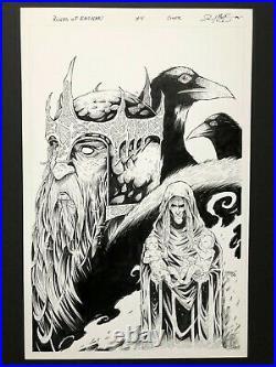 Josh Medors Runes of Ragnan #4 COVER ORIGINAL ART ORIGINALZEICHNUNG
