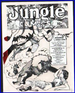 Jungle Comics #1 Kaanga Cover Art Alex Blum Lou Fine Original Production Art
