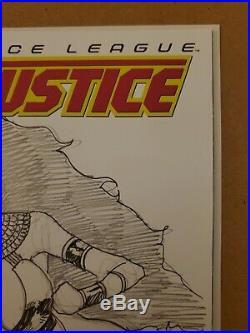 Justice League No Justice #1 Blank Cover JIM BALENT STARFIRE ORIGINAL ARTWORK
