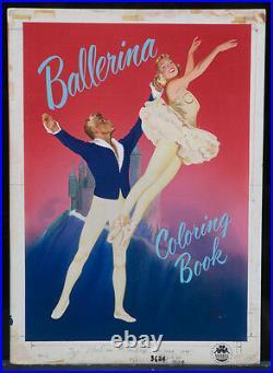KEITH WARD 1951 Original Cover Art Ballerina Coloring Book (A115)