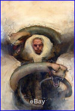 KENT WILLIAMS Hellblazer #22 ORIGINAL PAINTED COVER ART John Constantine
