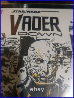 KIM JUNG GI Original Art Star Wars Vader Down Blank Cover Commission 1 of 1