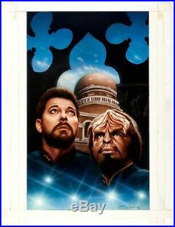 Keith Birdsong Star Trek Next Generation ORIGINAL ART book cover TNG Riker Worf