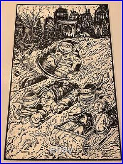 Kevin Eastman Original Comic Art TMNT 89B Variant Cover (All 4 Turtles)