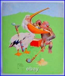 LAWSON WOOD Original COLLIER'S MAGAZINE Cover Painting August 12 1939 Gran'Pop