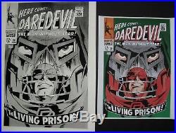 Large Original Production Art DAREDEVIL #38 cover, GENE COLAN art