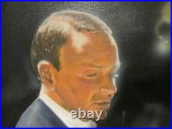 Large Signed FRANK SINATRA 1974 Original OIL ON CANVAS PAINTING 1967 Album Cover