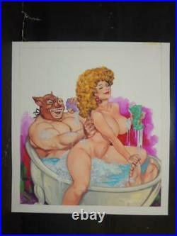 Luchas Calientes # 5 Sexy Pin Up Girl Original Mexican Wrestling Cover Art