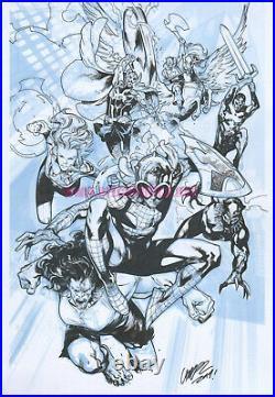 marvel spiderman avengers c2e2 con original cover art by pepe larraz signedoriginal art cover