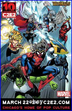 MARVEL Spiderman-Avengers C2E2 Con Original cover art by PEPE LARRAZ Signed
