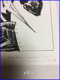 MORTAL KOMBAT X #12 Cover Jae Lee ORIGINAL COMIC ART BOOK ART Sub Zero