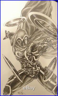 Mark Brooks cover MOON KNIGHT SECRET AVENGERS 37 ORIGINAL COMIC ART