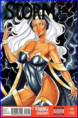 Marvel Comics STORM #1 Original Art Sketch Cover X-MEN WOLVERINE BLACK PANTHER