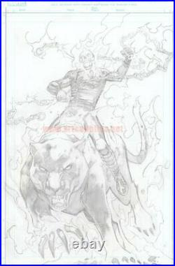 Marvel´s Secret Warps Ghost Panther Ann. 1 original COVER ART by CARLOS PACHECO