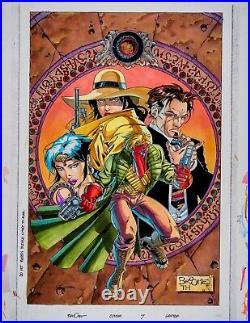 Matt Broome Original Comic Art Cover Grifter #7 signed Originalseite