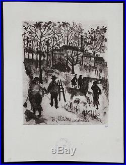 Maurice UTRILLO Original lithograph cover 19027 Aristide Bruant Montmartre