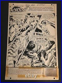 Metal Men #35 Original Art By Mike Sekowsky Cover Page #1