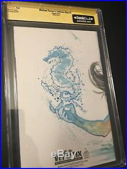 Michael Turner Fathom Blue #1 CGC SS 9.4 Manapul Original Art Sketch Cover