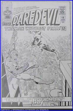 Mike Esposito (as Mighty Mike Espo) Daredevil #16 Cover Recreation Original Art