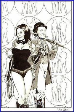 Mike Perkins Signed 2012 Steed & Mrs. Peel (the Avengers) Original Cover Art