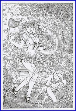 Monster Hunters Survival Guide #5 Cover Original Art by Al Rio, Zenescope, 2010