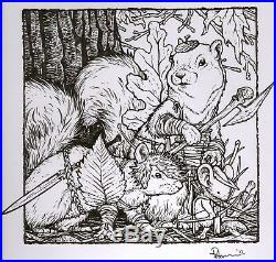 Mouse Guard 2017 Sketchbook Cover Original Art OA David Petersen Fall 1152
