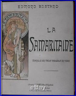 Mucha original lithograph cover La Samaritaine E. Rostang 1897 Nice binding O. E