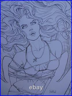 NEI RUFFINO original art, Cover of PURGATORI #2, Signed, 2014, 11x17, Beautiful