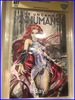 Natali Sanders Original Comic Art Artwork Sketch Cover Inhumans Medusa Cbcs