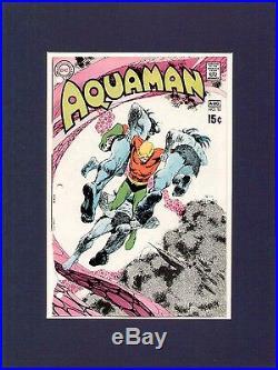 Nick Cardy 1970 Aquaman #52 Original Comic Cover Proof Production Art DC Comics